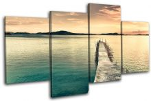 Pier  Phillippines Sunset Seascape - 13-0301(00B)-MP04-LO